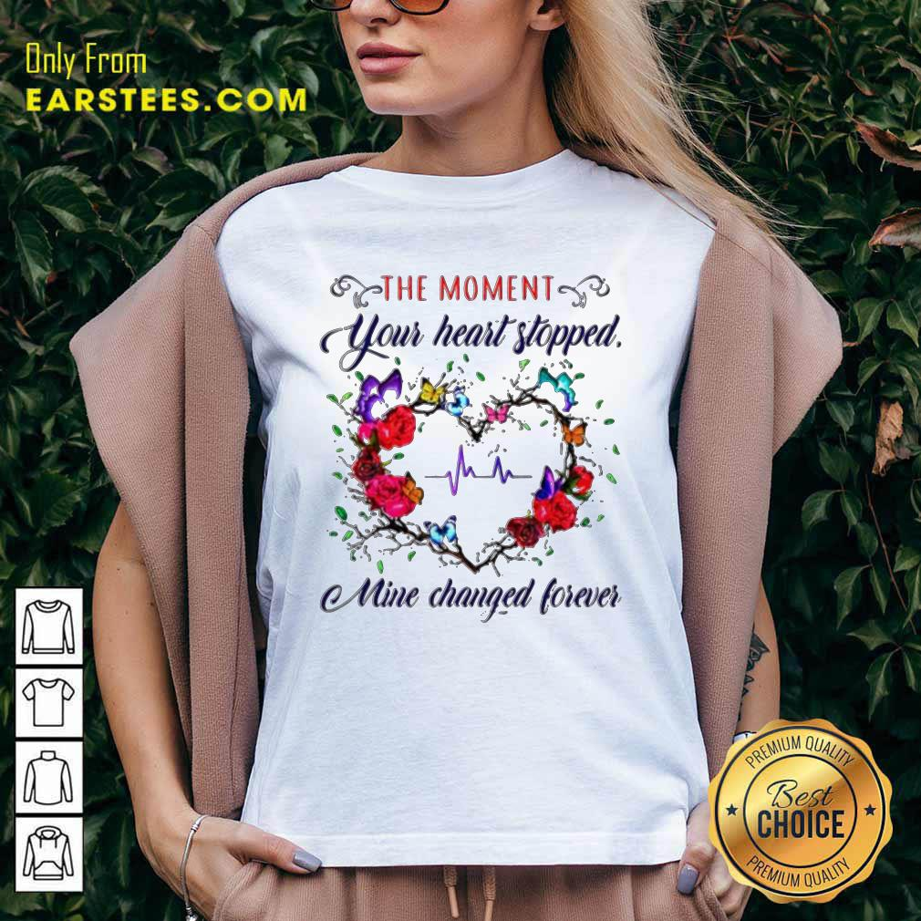 The Moment You Heart Stopped Mine Changed V-neck- Design By Earstees.com