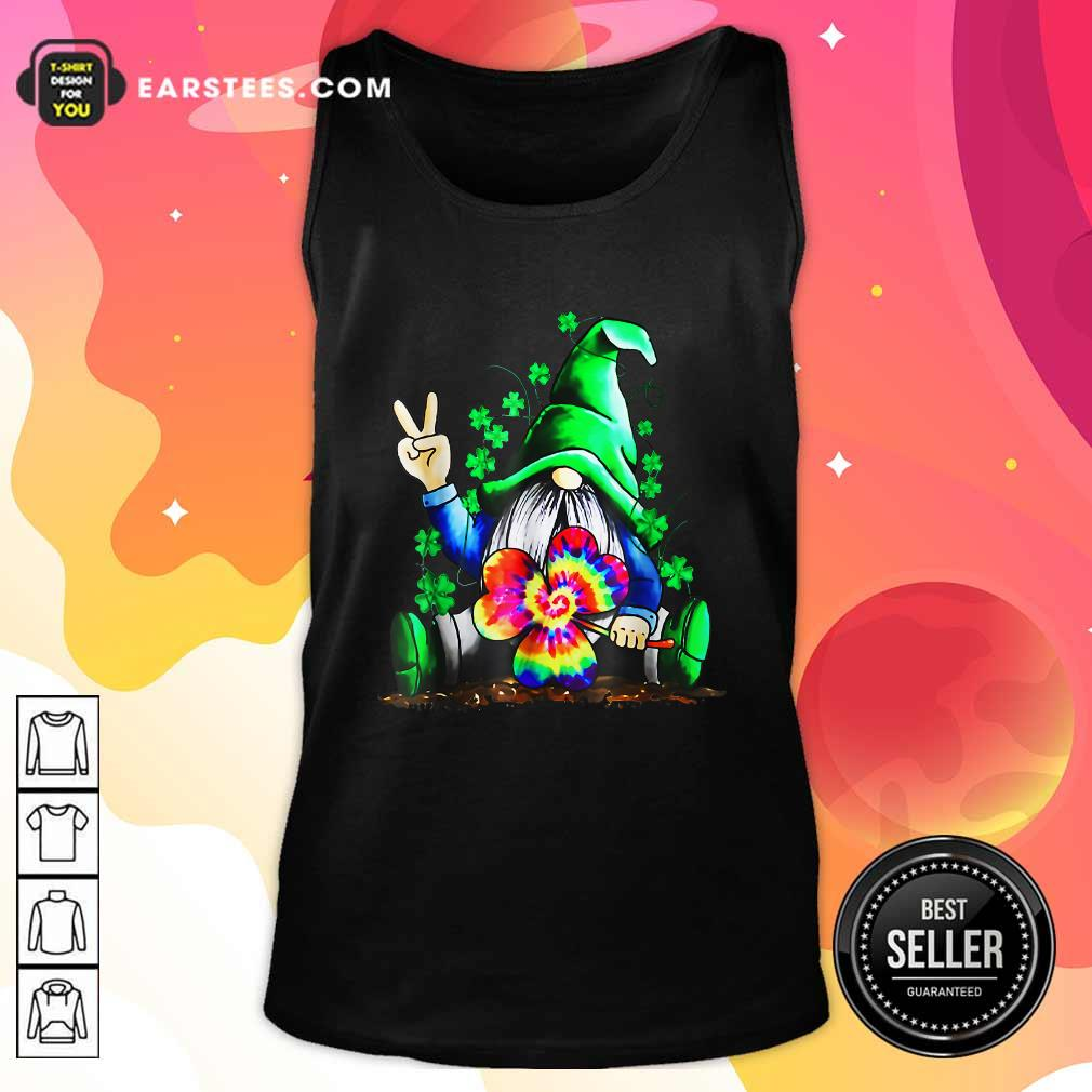 Hippie Gnome Happy Patricks Day Tank Top- Design By Earstees.com
