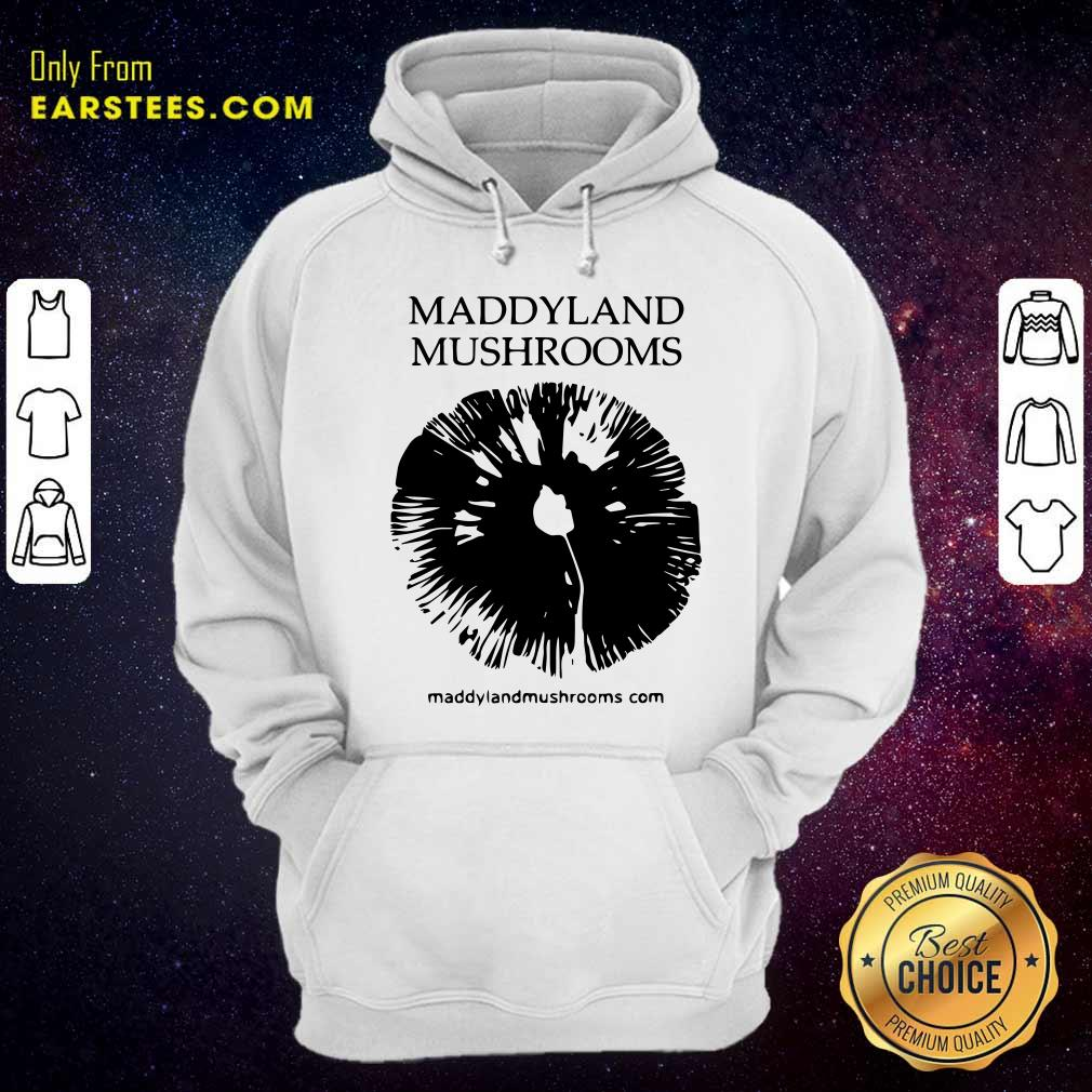 Maddyland Mushrooms With Black Image Hoodie- Design By Earstees.com