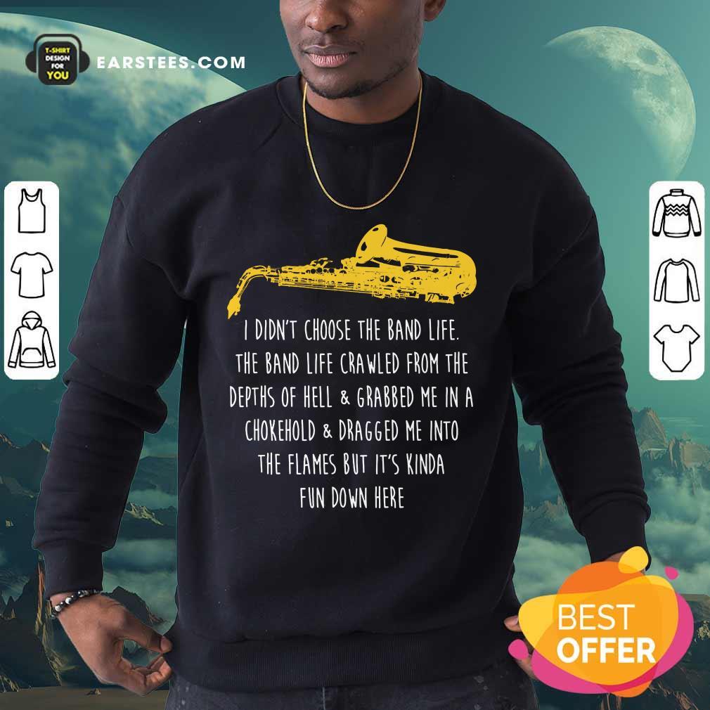 Premium Saxophone Band Terrific Sweatshirt