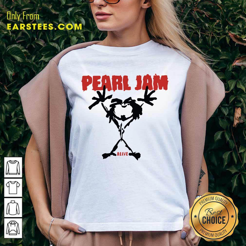 Pretty Pearl Jam Stickman Alive Excited V-neck