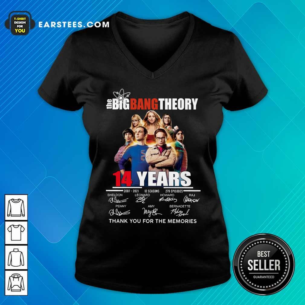 Pretty The Big Bang Theory 14 Years V-neck