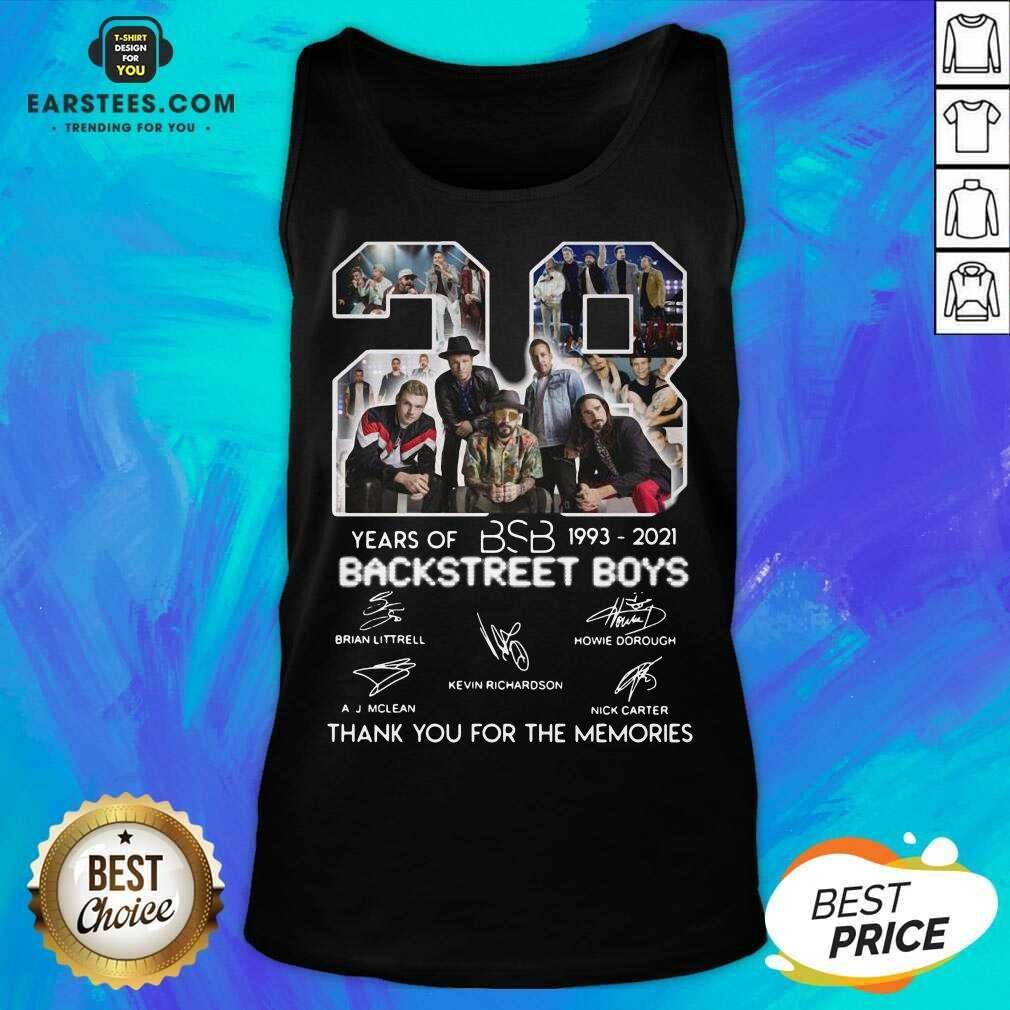 Top 28 Years Of BSB 1993 Backstreet Boys Tank Top