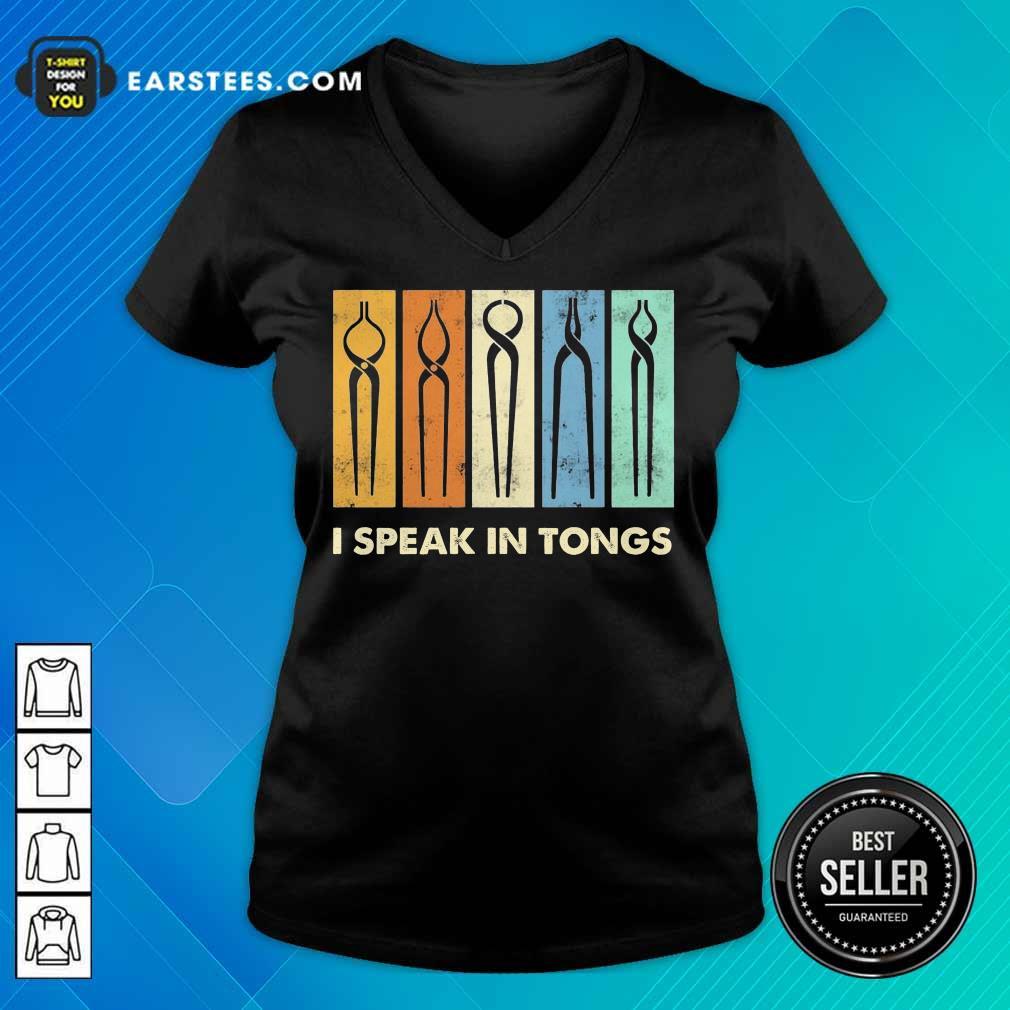 Vip I Speak In Tongs Vintage Terrific 2 V-neck