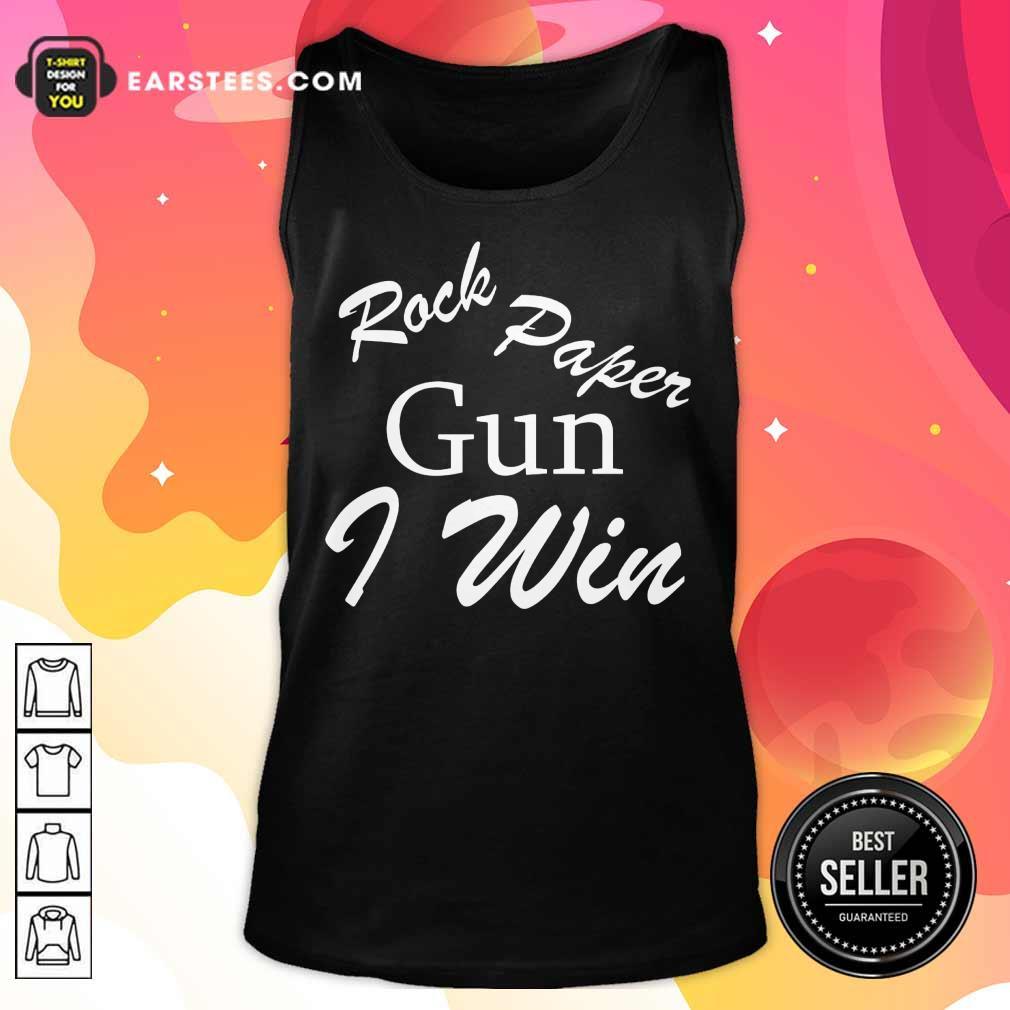 Awesome Rock Paper Gun I Win Tank Top