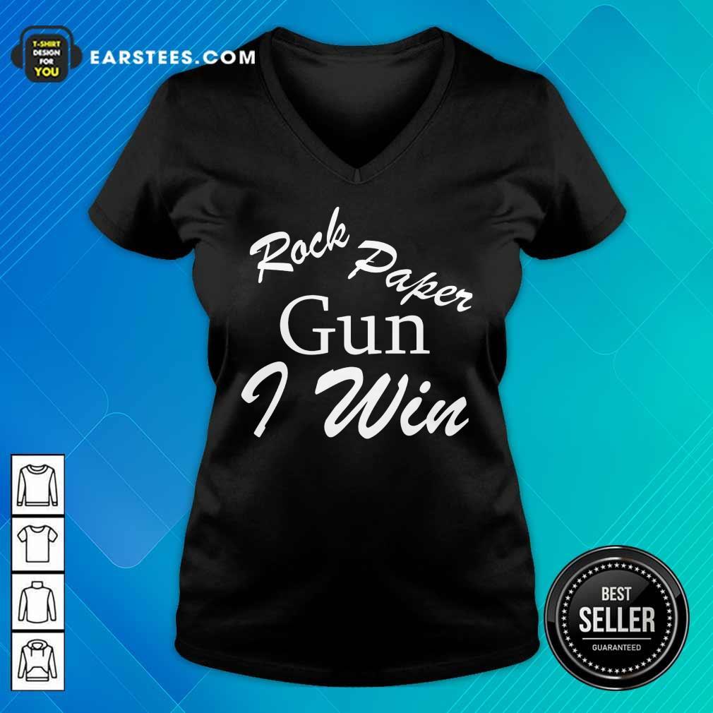 Awesome Rock Paper Gun I Win V-neck