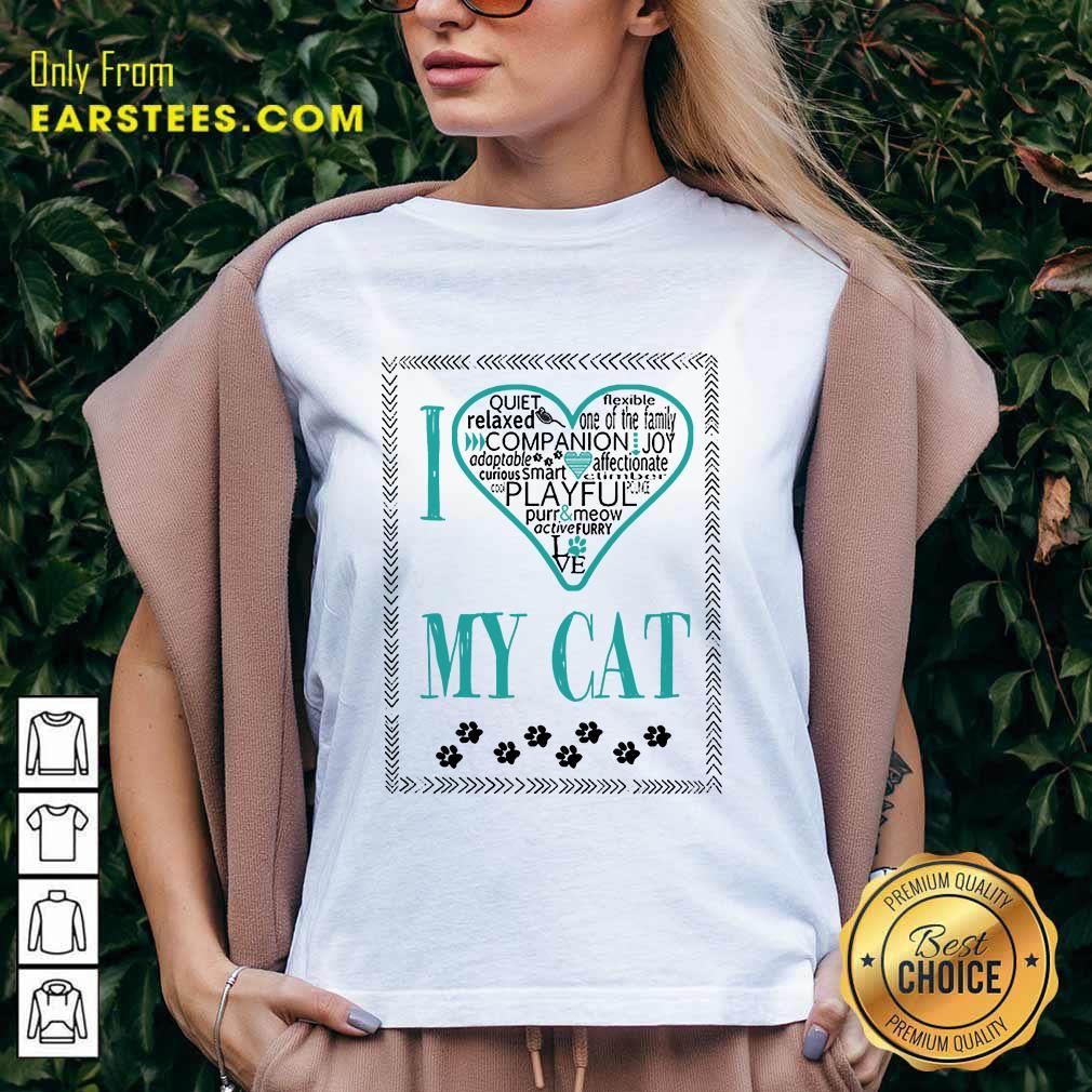 Excellent I Love My Cat V-neck