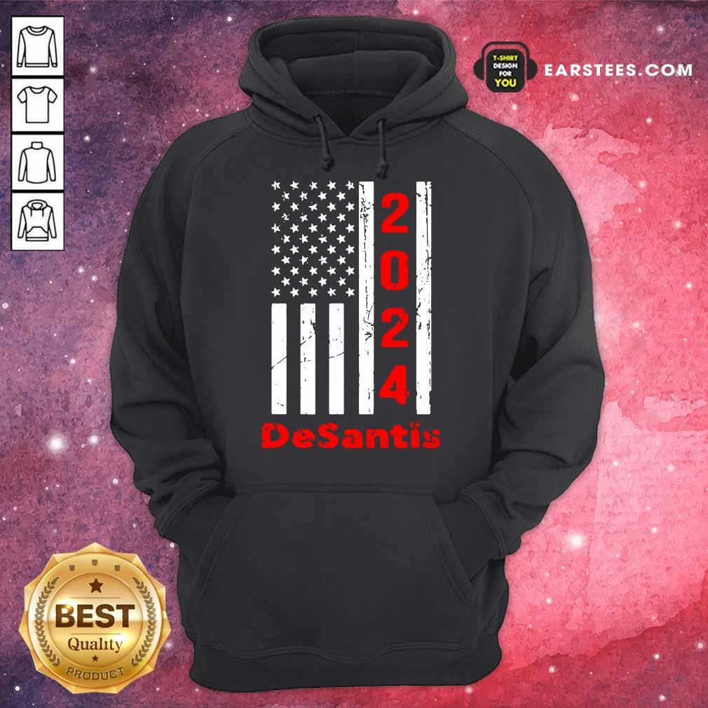 Funny 2024 Desantis American Flag Hoodie