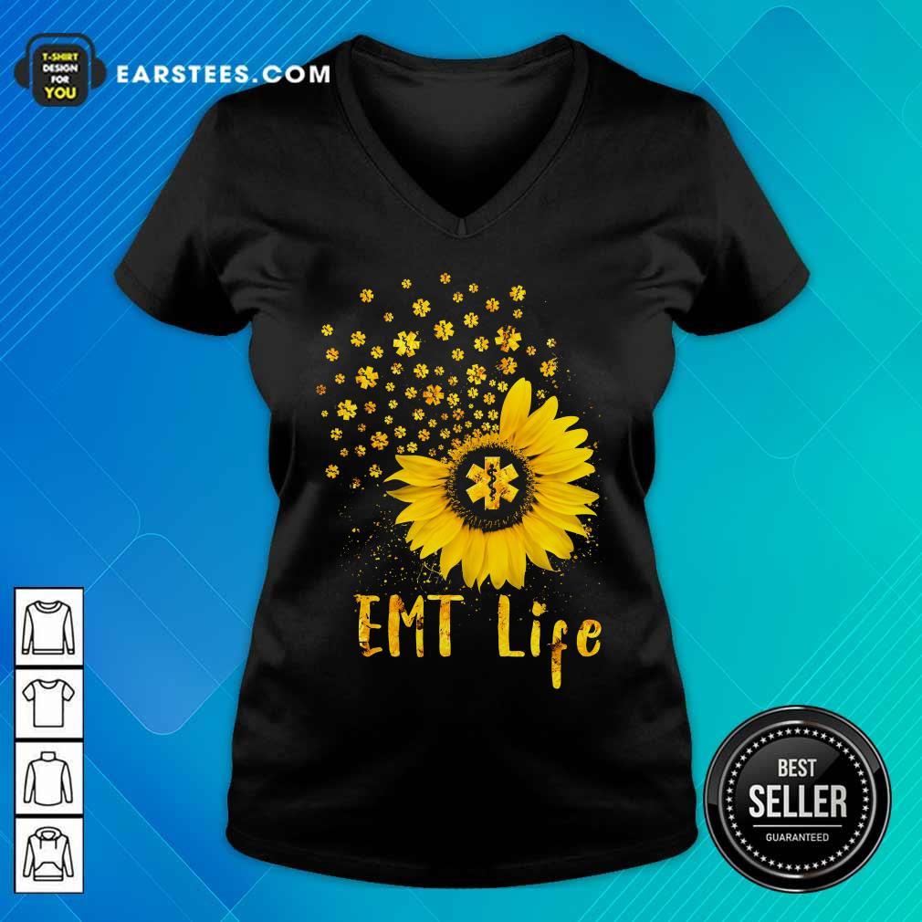 Perfect EMT Life Sunflower Nurse Lover Gift V-neck