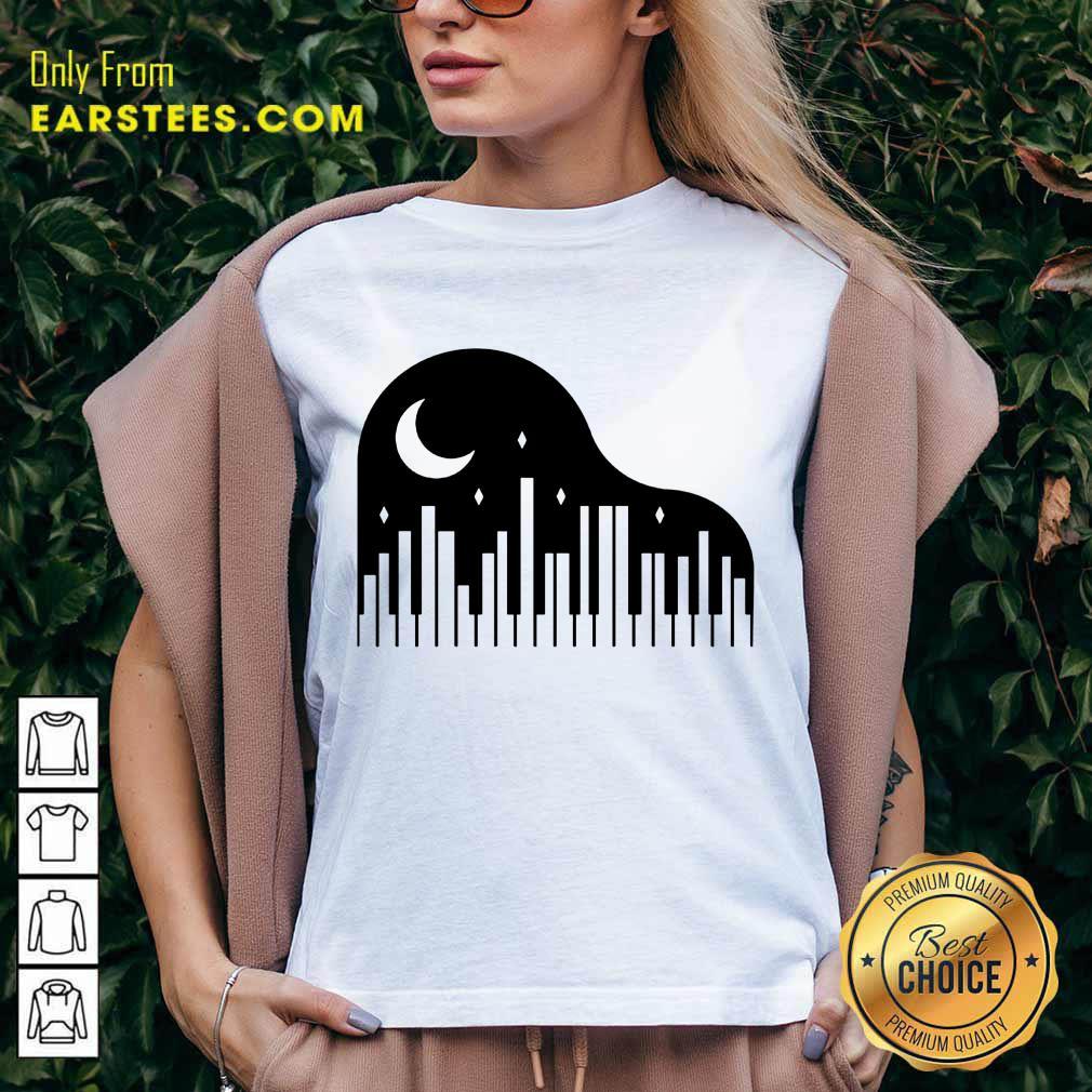 Perfect Piano And Night City V-Neck