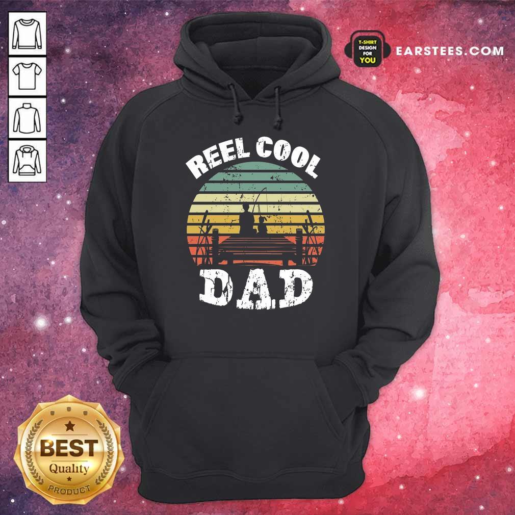 Premium Fishing Reel Cool Dad Vintage Hoodie