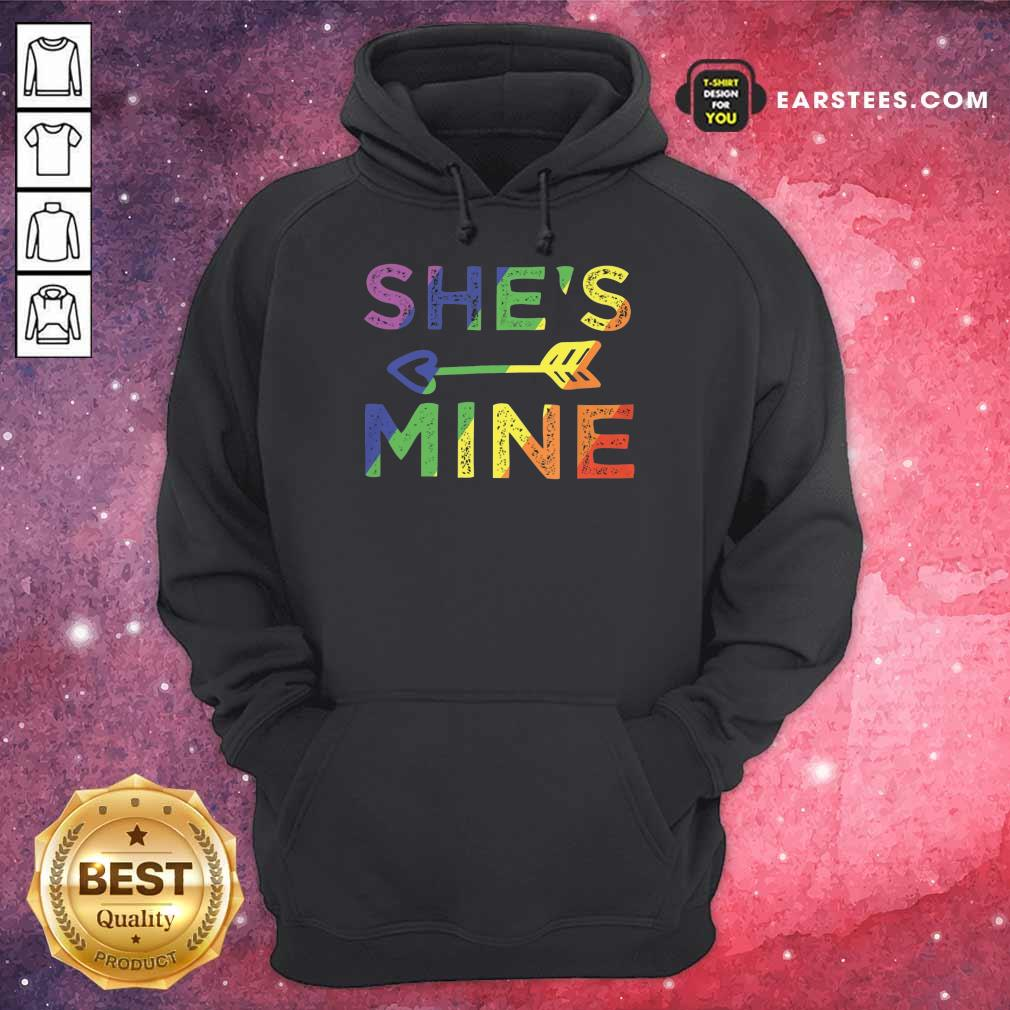 Top LGBT Shes Mine Hoodie