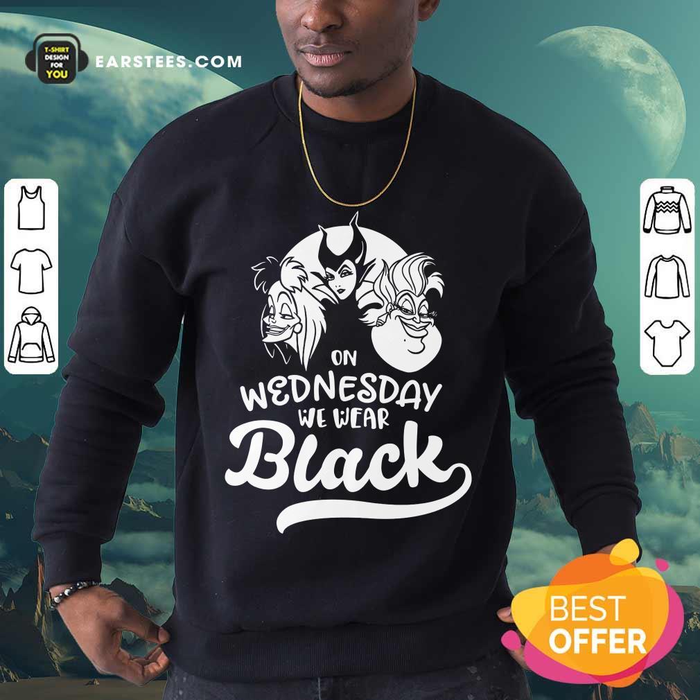 Top Maleficent On Wednesday We Wear Black Sweatshirt