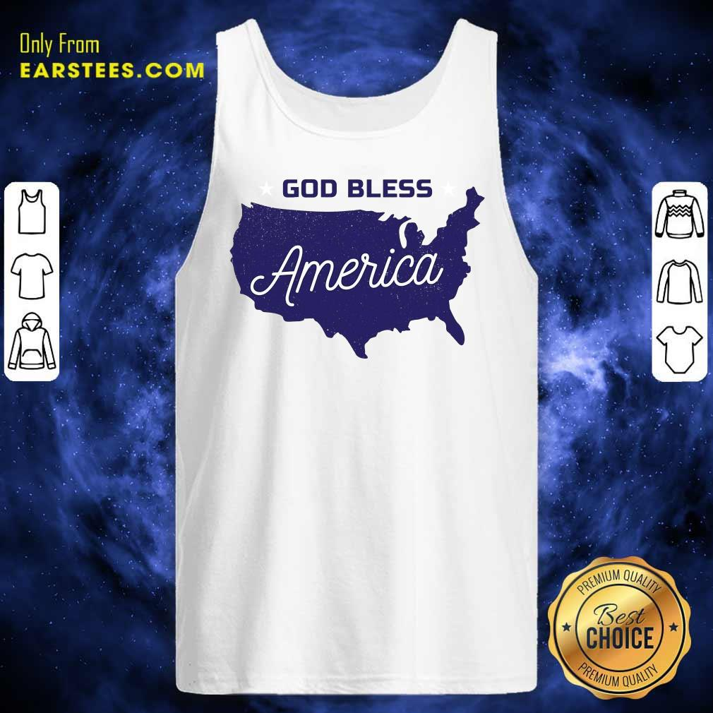 Nice God Bless America Tank Top