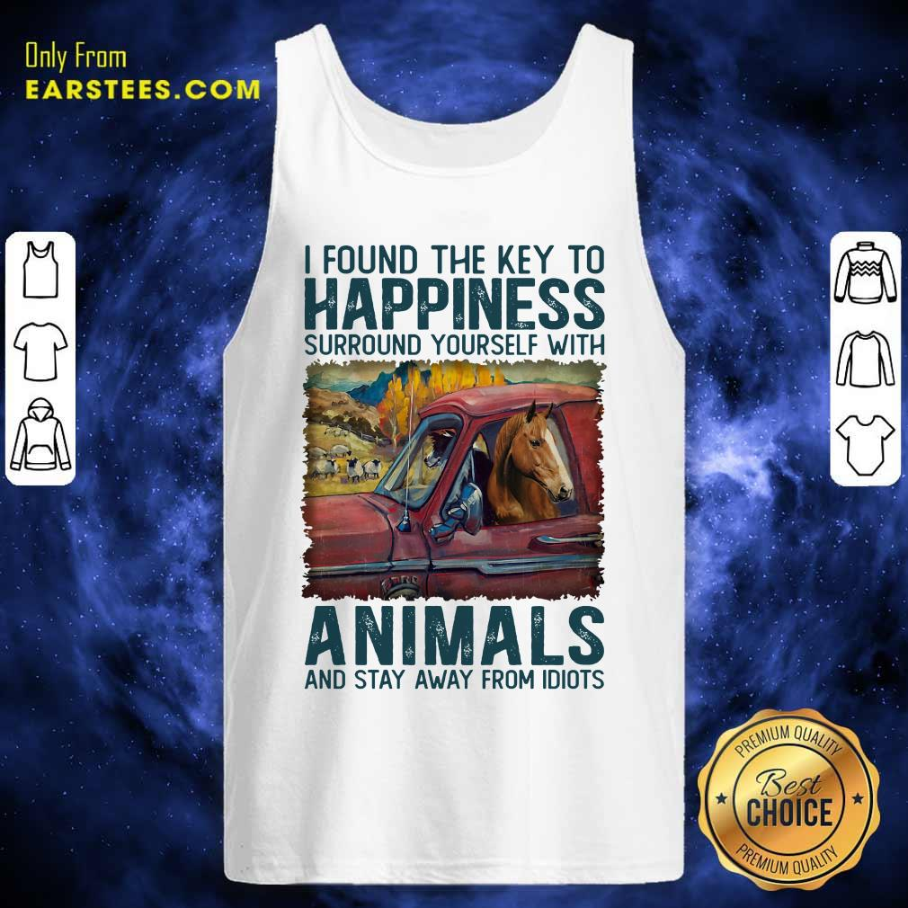 Top Horse I Found The Key To Happiness Animals Tank Top