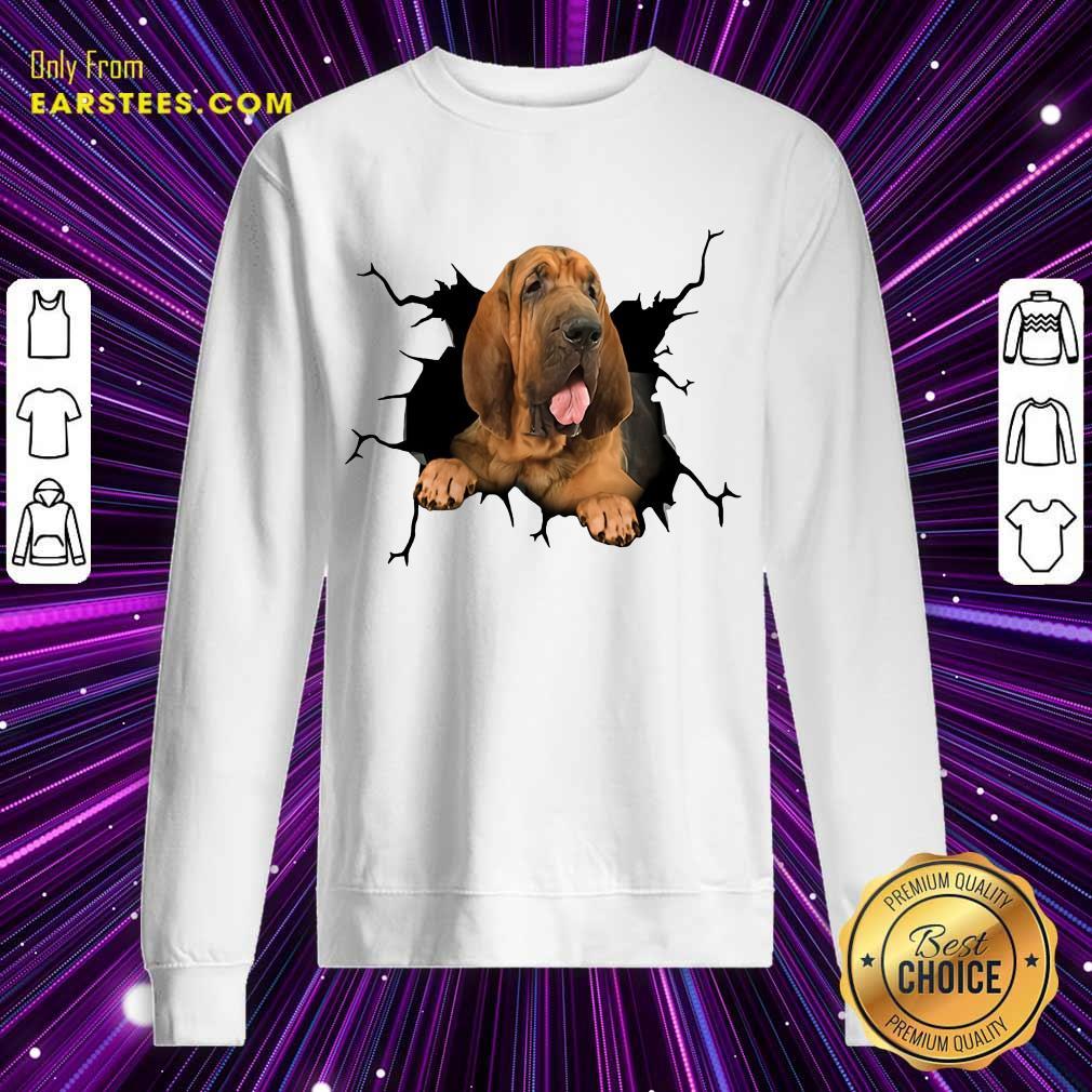 Top I Love Bloodhound Sweatshirt