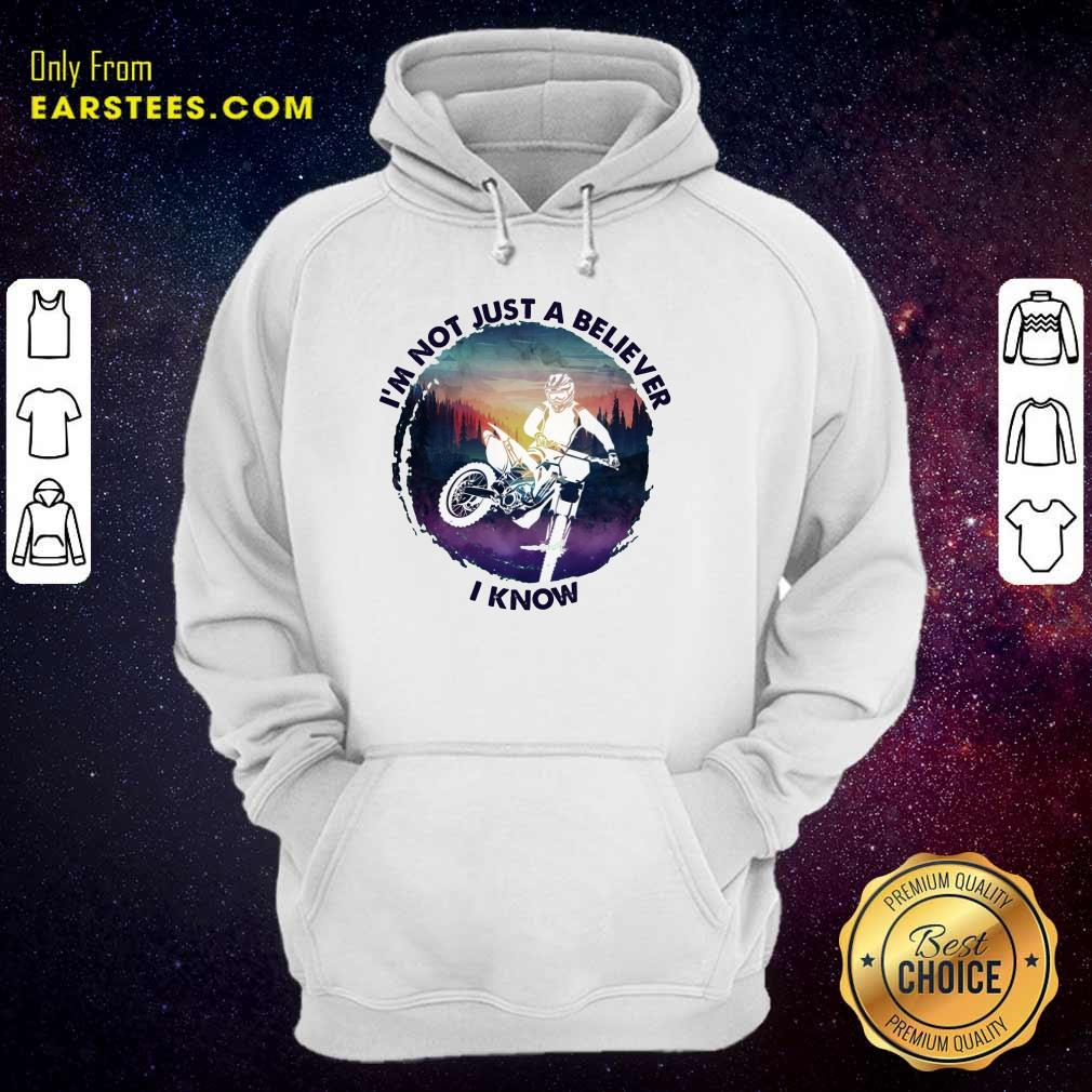 Top I'm Not Just A Believer Motocross Hoodie