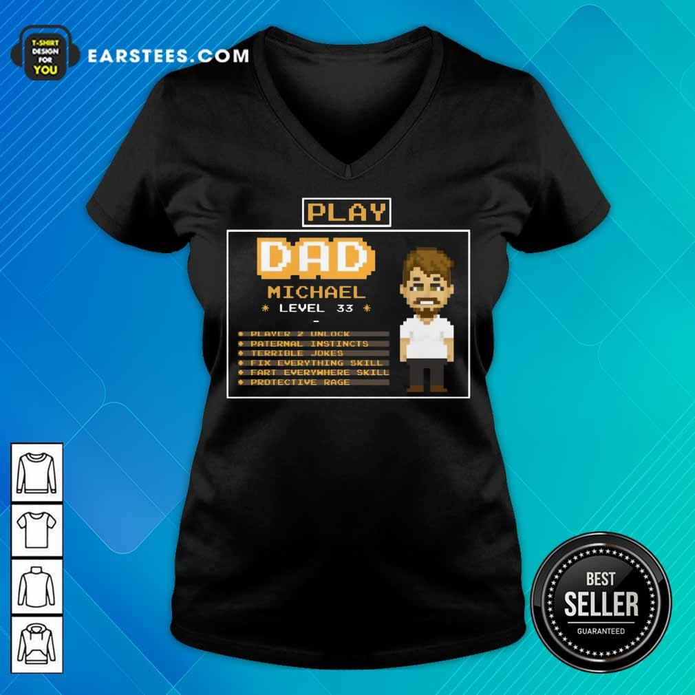 Top Playing Game Father Character Customize V-Neck