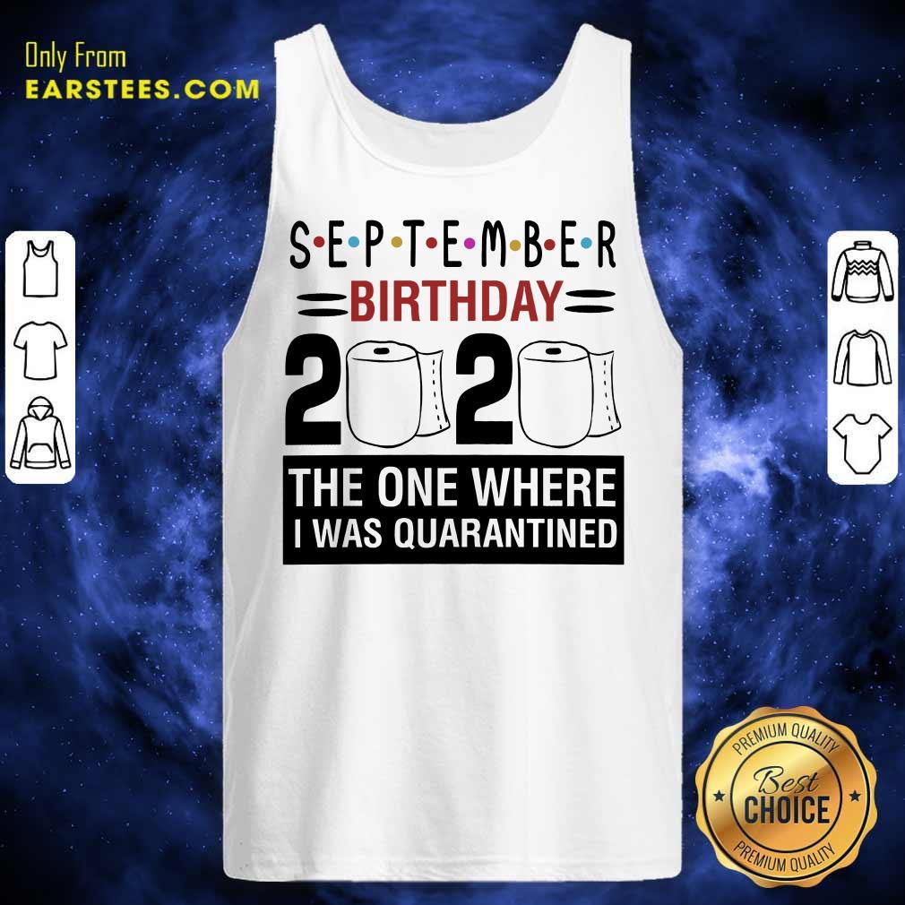 Top September Birthday 2020 Tank Top