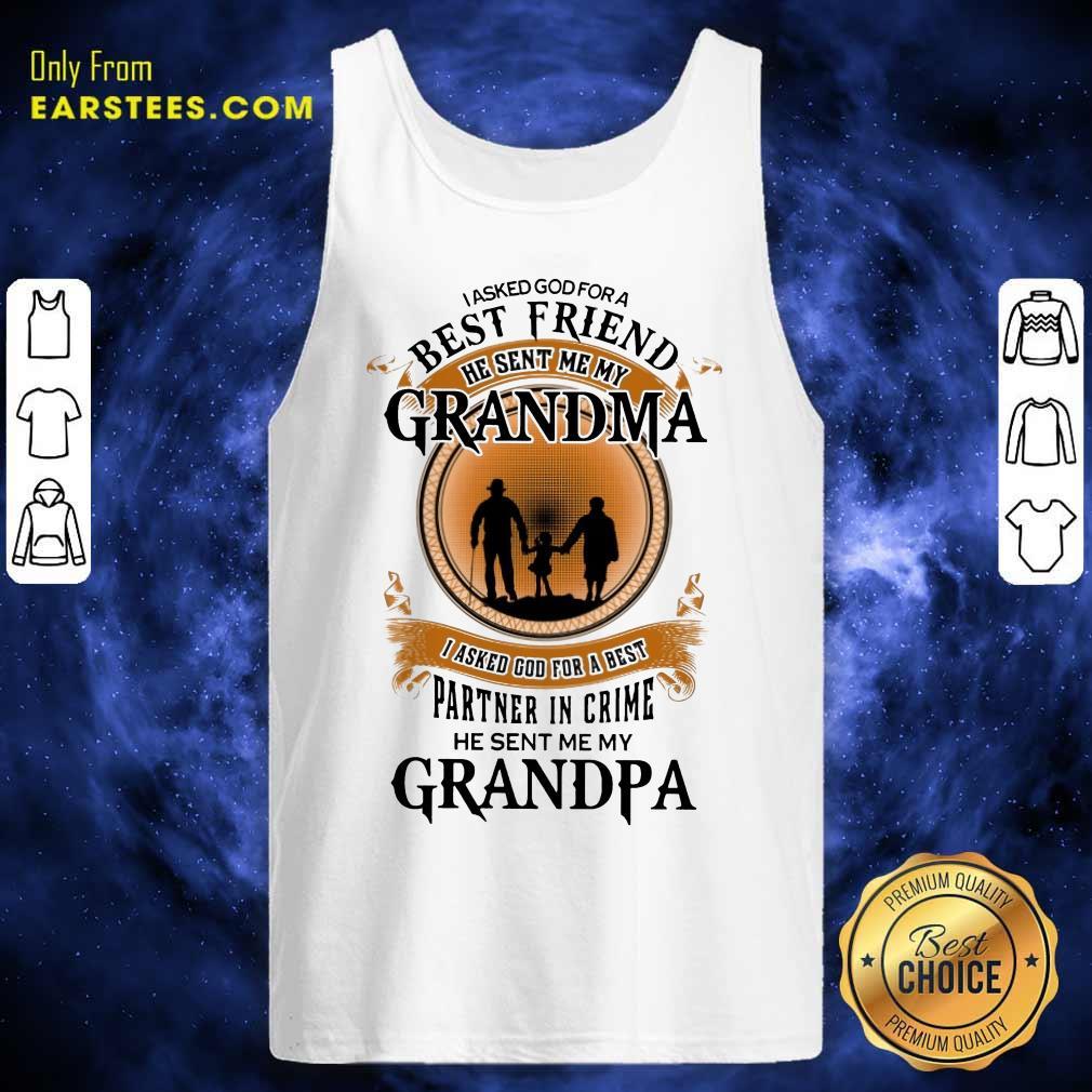 Top Best Friend Grandma And Grandpa Tank Top