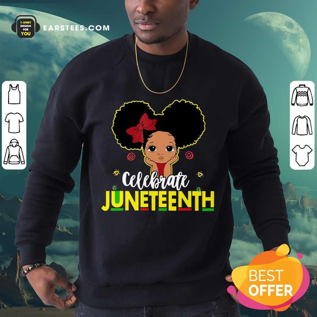 Top Black Girl Kids Juneteenth Sweatshirt