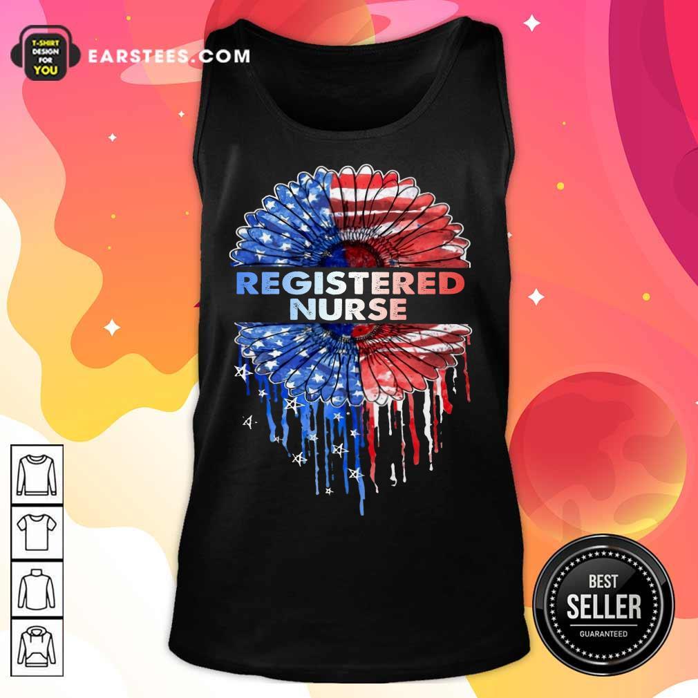 Top Registered Nurse American Flag Tank Top