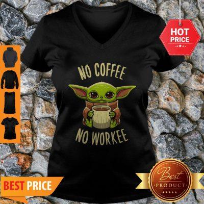 Baby Yoda No Coffee No Force Star Wars V-neck