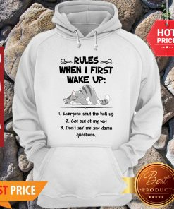 Cat Rules When I First Wake Up Everyone Shut The Hell Up Hoodie