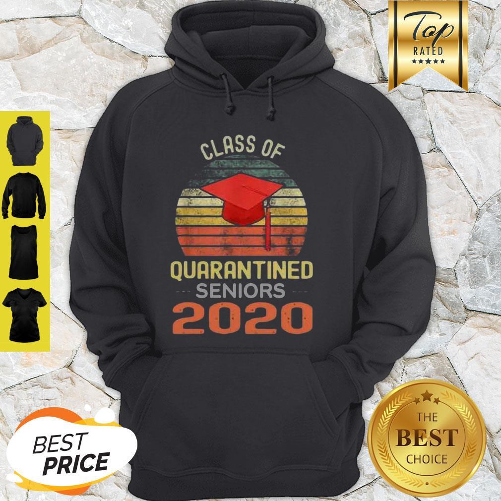 Class Of Quarantined Seniors 2020 Flu Coronavirus Vintage Hoodie