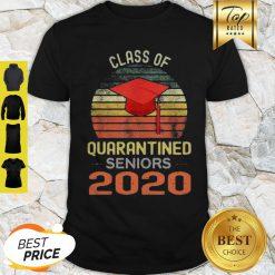 Class Of Quarantined Seniors 2020 Flu Coronavirus Vintage Shirt