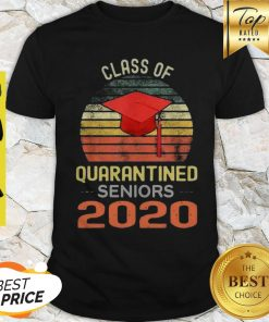 Class Of Quarantined Seniors 2020 Flu Coronavirus Vintage Shirt