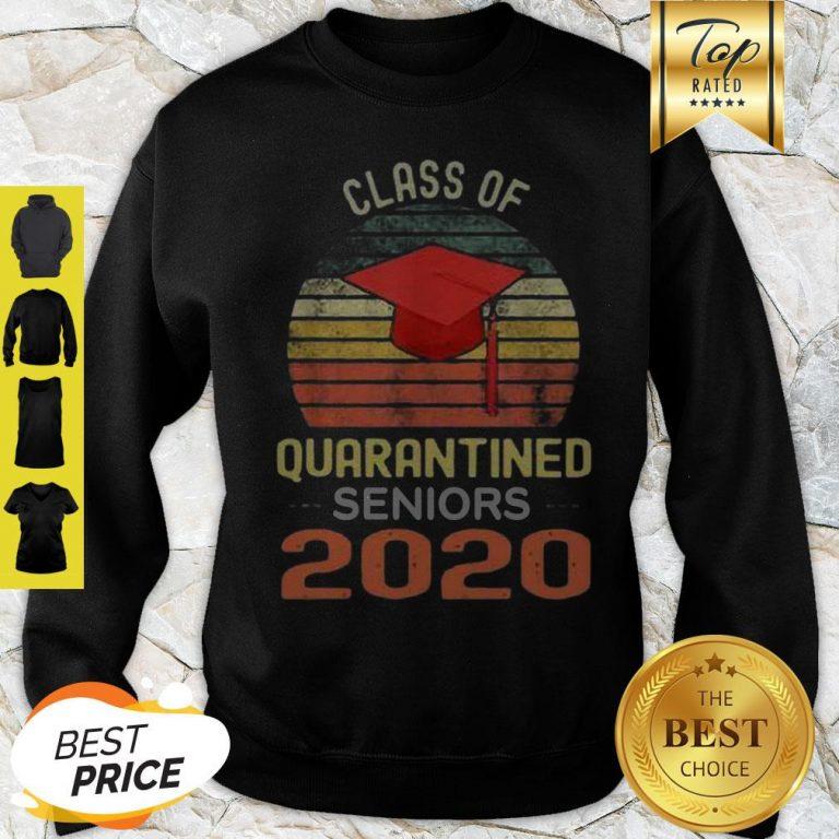 Class Of Quarantined Seniors 2020 Flu Coronavirus Vintage Sweatshirt