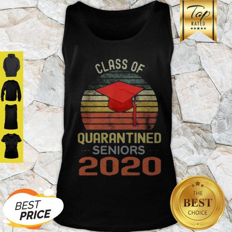 Class Of Quarantined Seniors 2020 Flu Coronavirus Vintage Tank Top