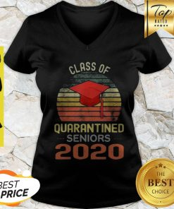 Class Of Quarantined Seniors 2020 Flu Coronavirus Vintage V-neck