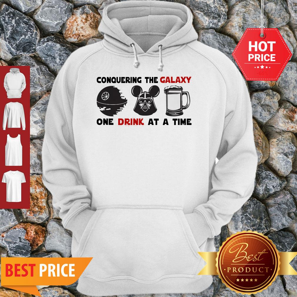 Conquering The Galaxy One Drink At A Time Mickey Darth Vader Hoodie