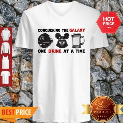 Conquering The Galaxy One Drink At A Time Mickey Darth Vader V-neck