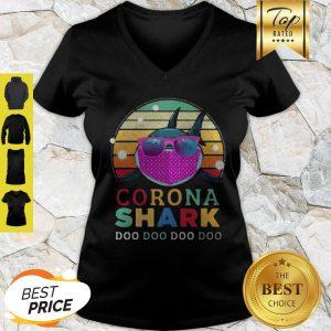 Corona Shark Doo Doo Doo Doo Vintage V-neck
