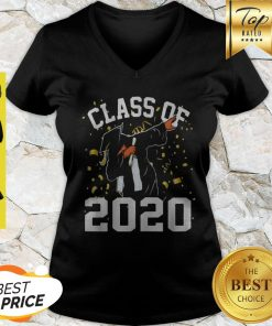 Dabbing Graduation Senior Class 2020 Coronavirus V-neck