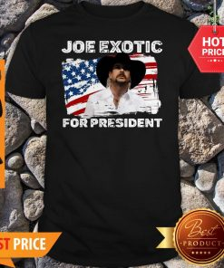 Joe Exotic For President 2020 American Flag Tiger King Shirt