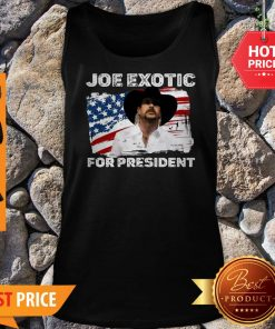 Joe Exotic For President 2020 American Flag Tiger King Tank Top