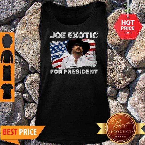 Joe Exotic For President 2020 American Flag Tiger King Tank Top