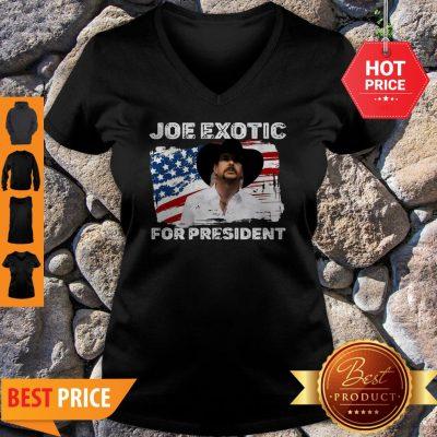Joe Exotic For President 2020 American Flag Tiger King V-neck
