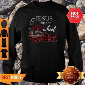 Leopard Truck Heart Jesus Take The Wheel Sweatshirt