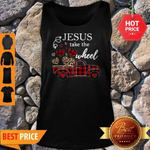 Leopard Truck Heart Jesus Take The Wheel Tank Top