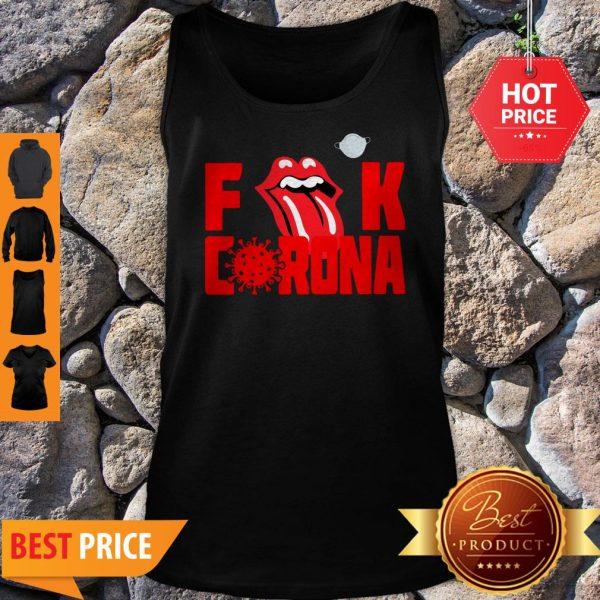 Logo Rolling Stones Fuck Corona Tank Top