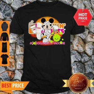 Mickey Mouse Dunkin' Donuts Coronavirus Vaccine Shirt