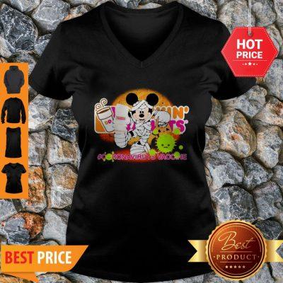Mickey Mouse Dunkin' Donuts Coronavirus Vaccine V-neck