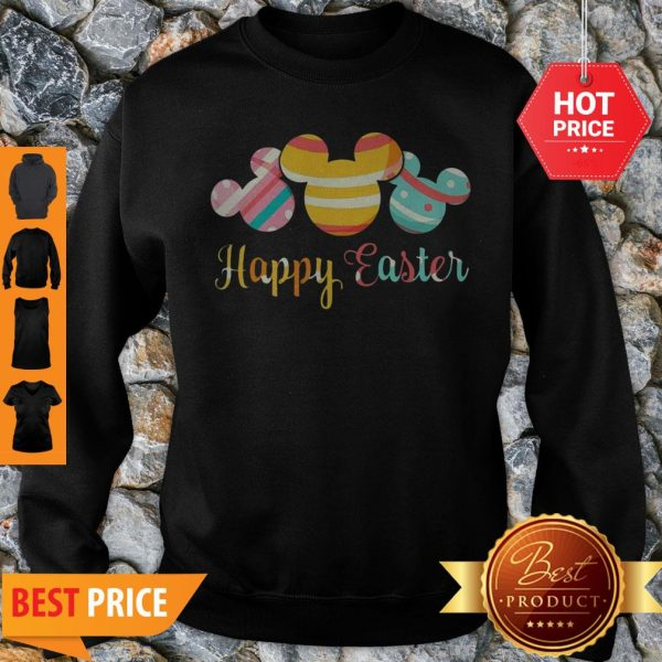 Nice Mickey Mouse Happy Easter Sweatshirt