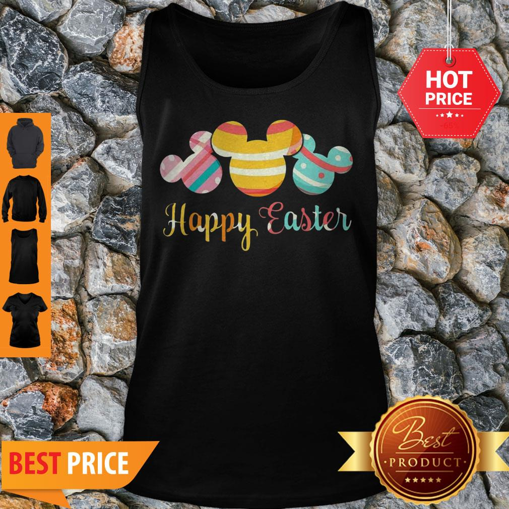 Nice Mickey Mouse Happy Easter Tank Top