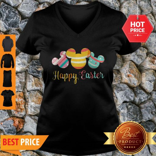Nice Mickey Mouse Happy Easter V-neck